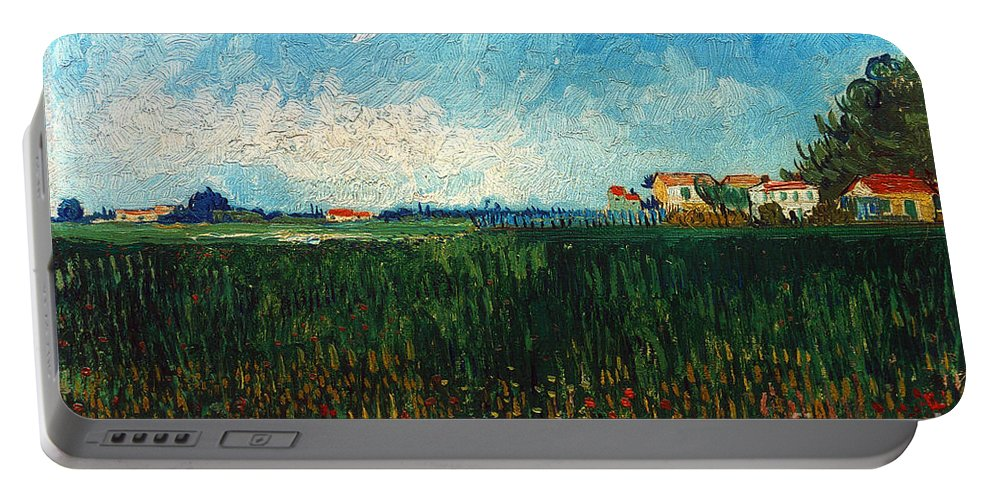 1888 Portable Battery Charger featuring the photograph Van Gogh: Landscape, 1888 by Granger