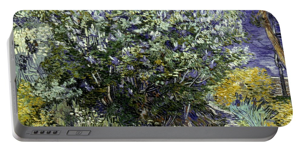 19th Century Portable Battery Charger featuring the photograph Van Gogh: Lilacs, 19th C by Granger