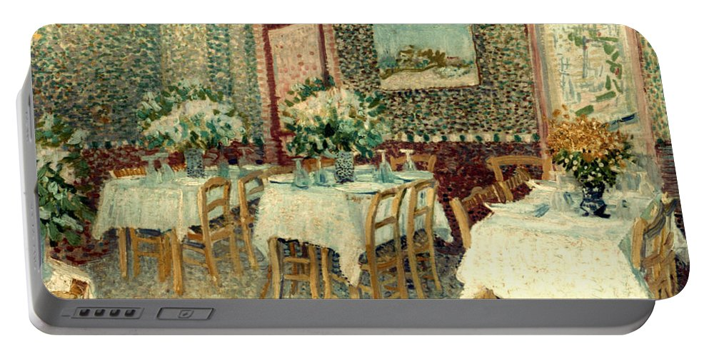 1887 Portable Battery Charger featuring the photograph Van Gogh: Restaurant, 1887 by Granger