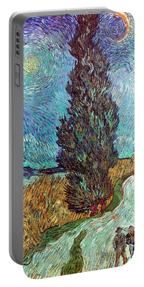 1890 Portable Battery Charger featuring the photograph Van Gogh: Road, 1890 by Granger