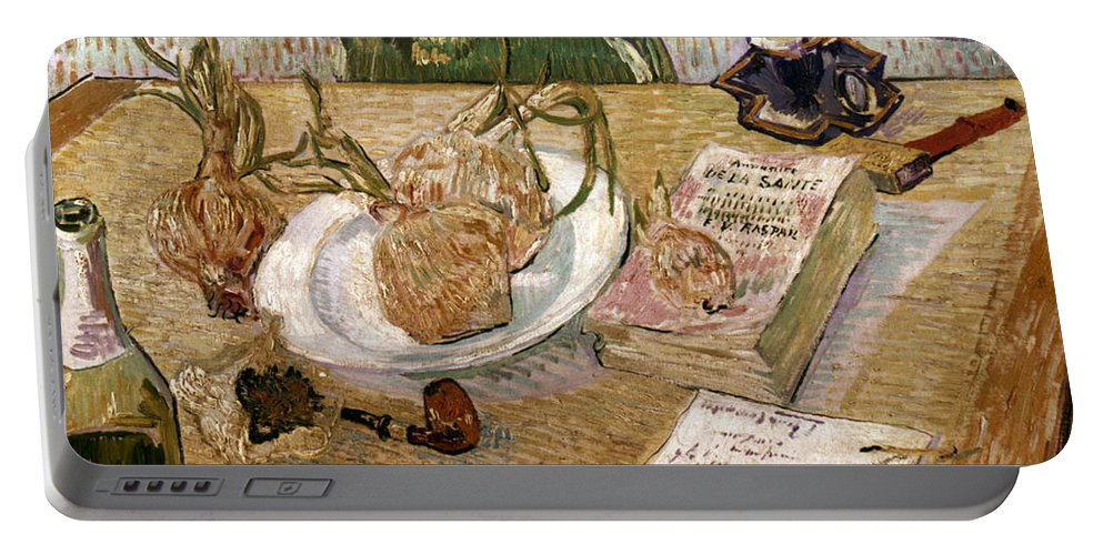 1889 Portable Battery Charger featuring the photograph Van Gogh: Still Life, 1889 by Granger