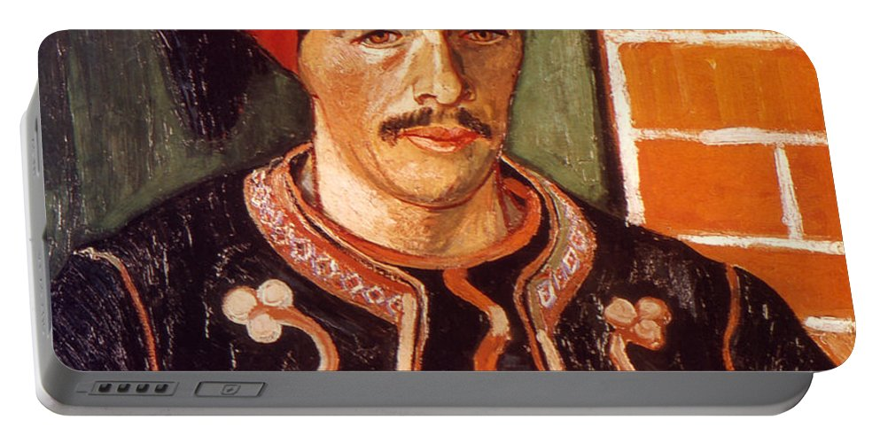 1888 Portable Battery Charger featuring the photograph Van Gogh: The Zouave, 1888 by Granger