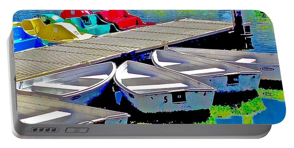 Boats Summer Vasona Park Portable Battery Charger featuring the photograph Boats Summer Vasona Park by Scott L Holtslander