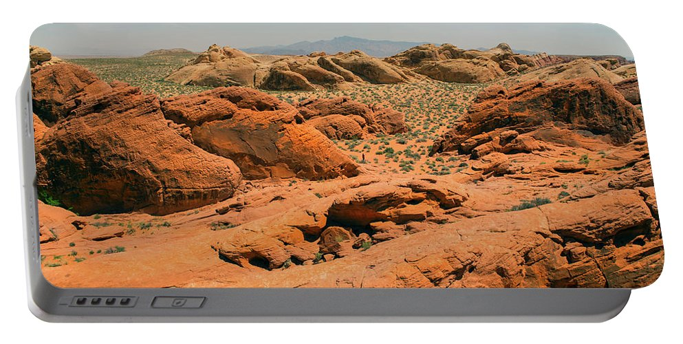Landscape Portable Battery Charger featuring the photograph Vast Desert Valley Of Fire by Frank Wilson