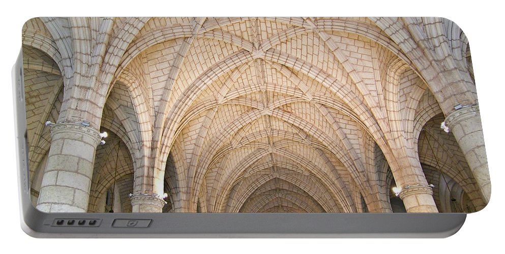 Dominican Portable Battery Charger featuring the photograph Vaulted Ceiling And Arches by Douglas Barnett