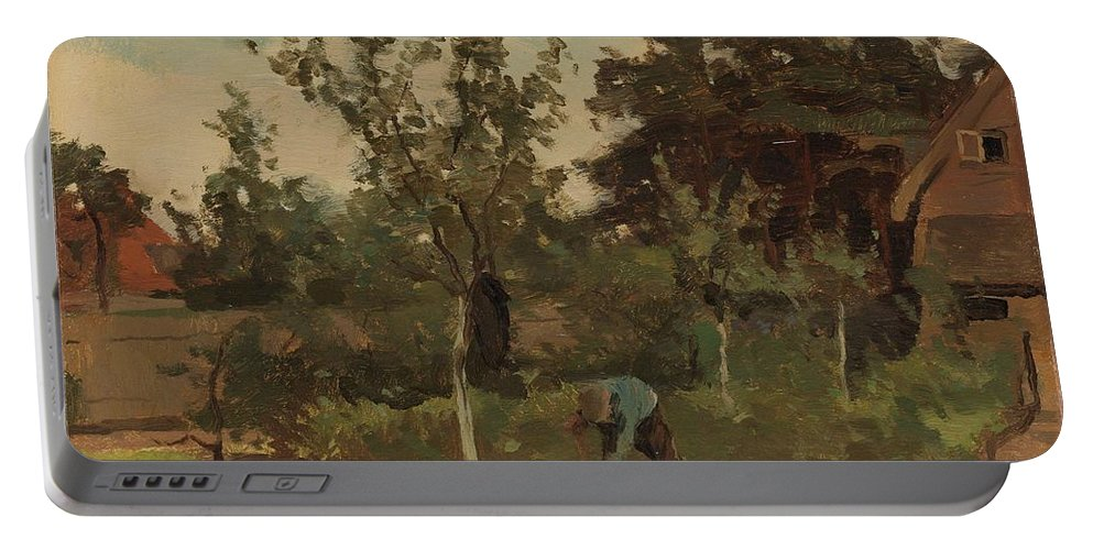 Nature Portable Battery Charger featuring the painting Vegetable, Willem Witsen, 1885 - 1922 by Artistic Panda