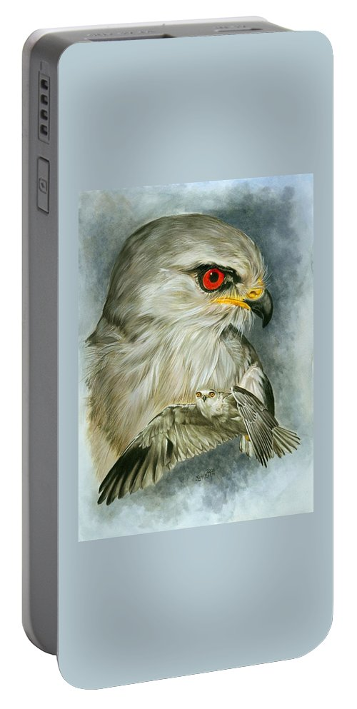 Kite Portable Battery Charger featuring the mixed media Velocity by Barbara Keith