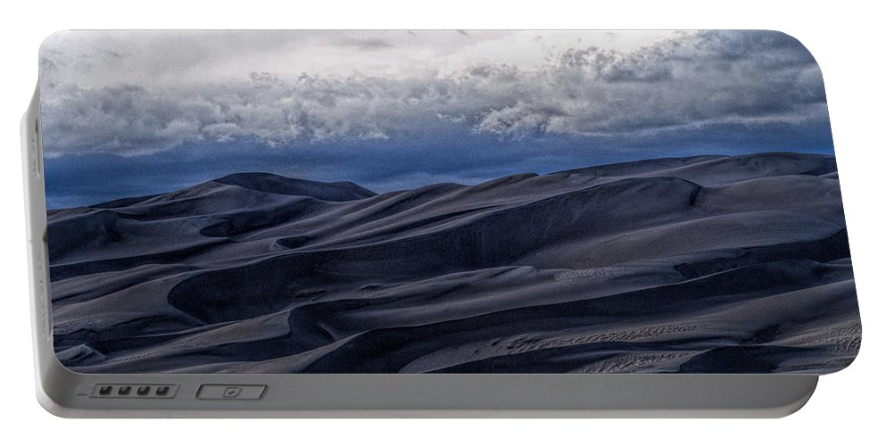 Great Sand Dunes National Park Portable Battery Charger featuring the photograph Velvet at Night by Alana Thrower