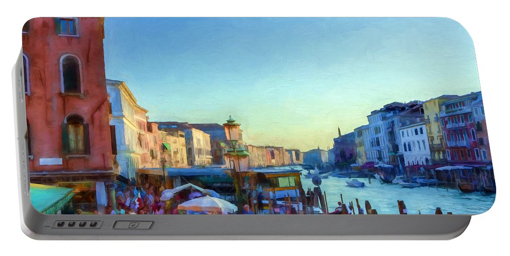 Venice Portable Battery Charger featuring the digital art Venetian Afternoon I by Ronald Bolokofsky