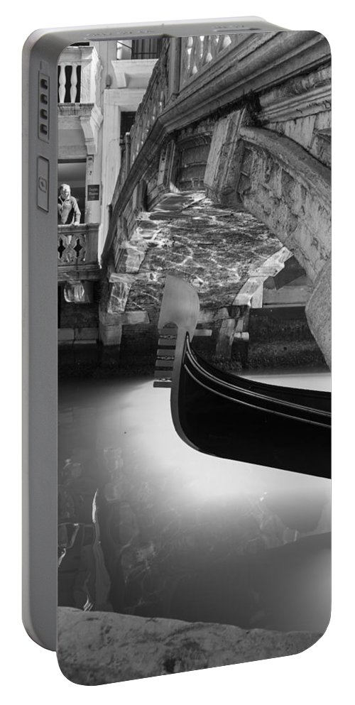 Venice Portable Battery Charger featuring the photograph Venetian Daily Scene by Yuri San