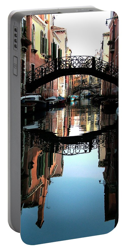 Venice Portable Battery Charger featuring the photograph Venetian Delight by Donna Corless