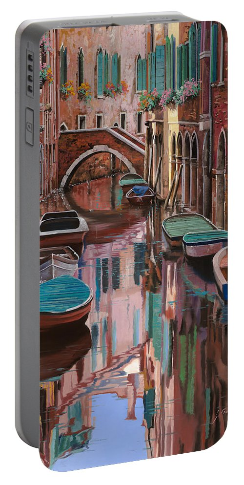 Venice Portable Battery Charger featuring the painting Venezia A Colori by Guido Borelli