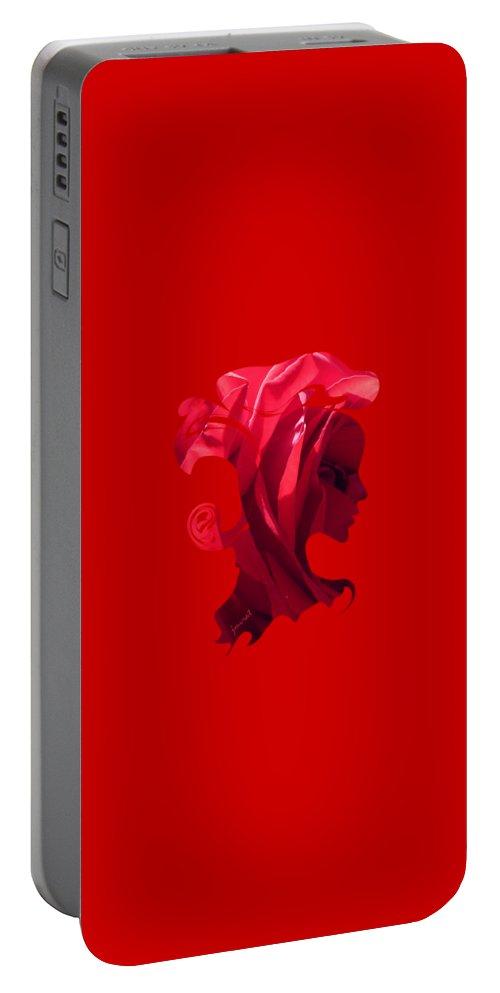 Venice Portable Battery Charger featuring the digital art Flower Art Venice M6 by Johannes Murat