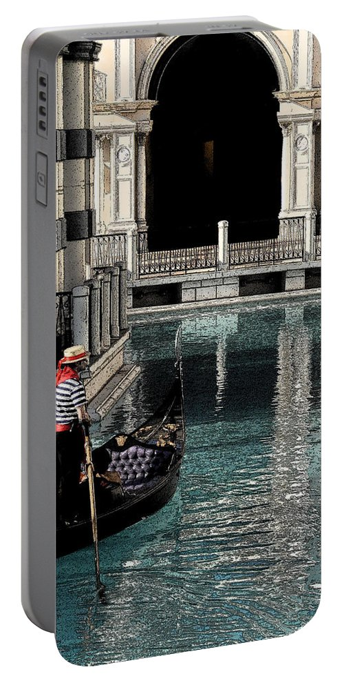 Venice Portable Battery Charger featuring the painting Venice by David Lee Thompson