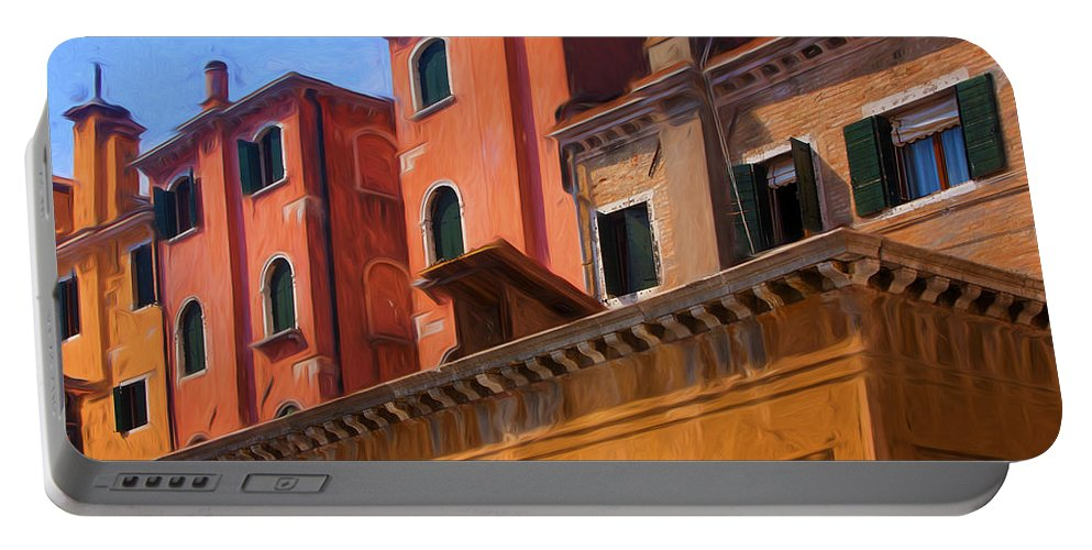 Venice Portable Battery Charger featuring the photograph Venice Details Italy by George Robinson