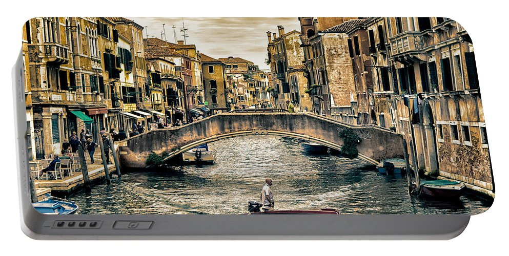 Venice Portable Battery Charger featuring the photograph venice, Italy by Nir Roitman