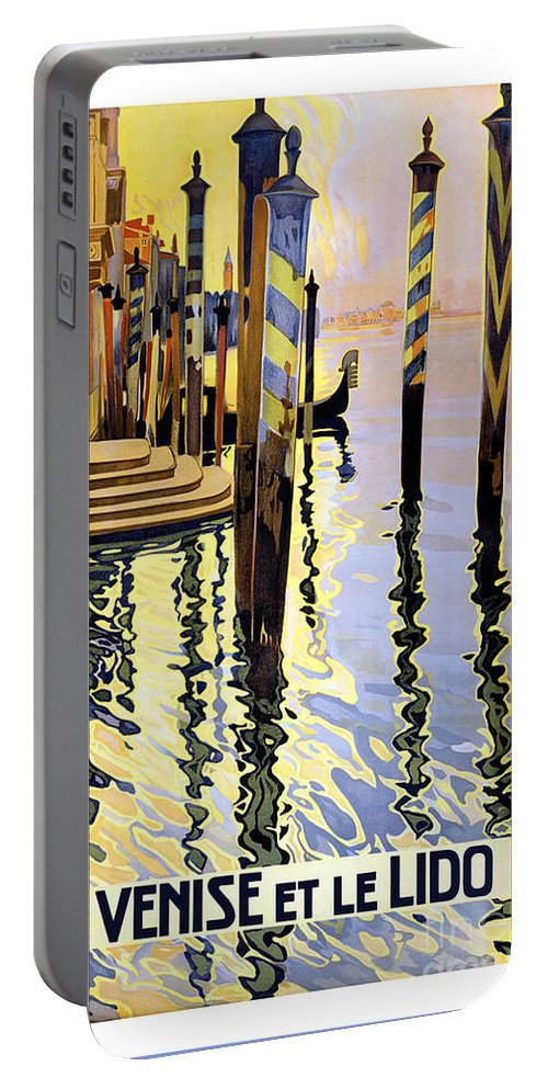 Venice Italy Portable Battery Charger featuring the painting Venice Italy by Pd