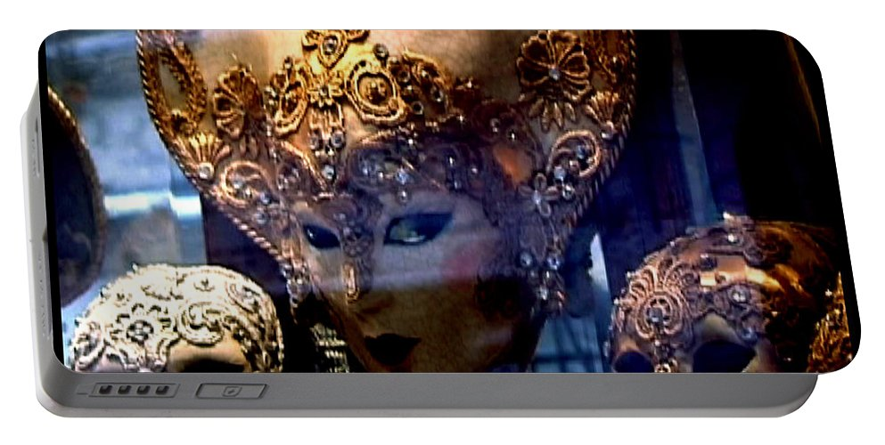Venice Portable Battery Charger featuring the photograph Venician Masks by Charles Stuart