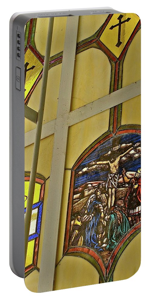 Church Portable Battery Charger featuring the photograph Ventana Dos by Diana Hatcher