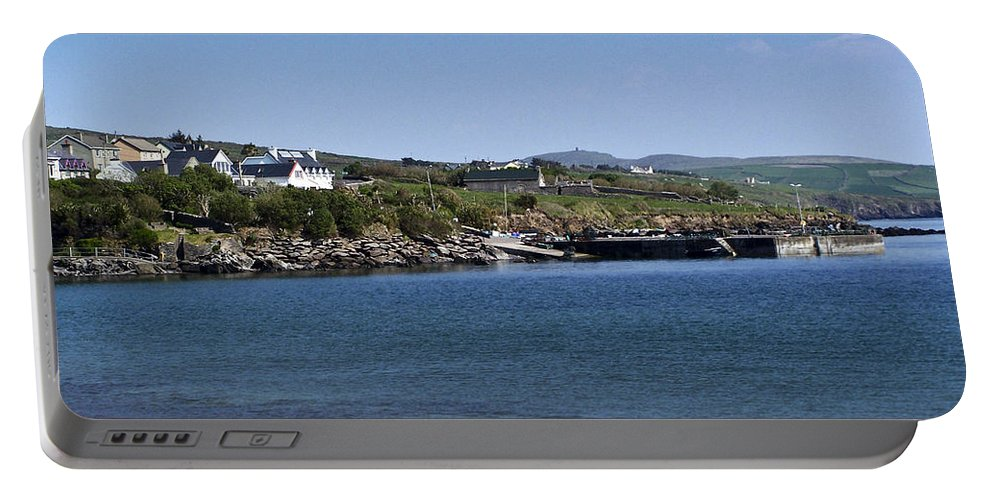 Irish Portable Battery Charger featuring the photograph Ventry Beach And Harbor Ireland by Teresa Mucha