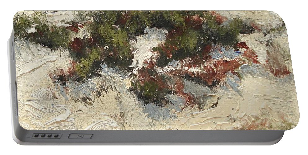 Water Portable Battery Charger featuring the painting Ventura Dunes I by Barbara Andolsek