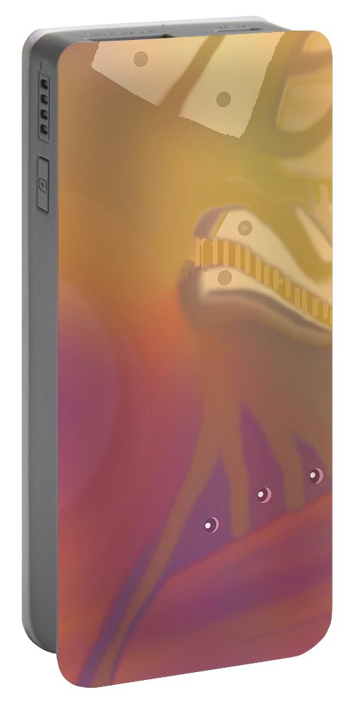 Abstract Portable Battery Charger featuring the digital art Venture by Ian MacDonald