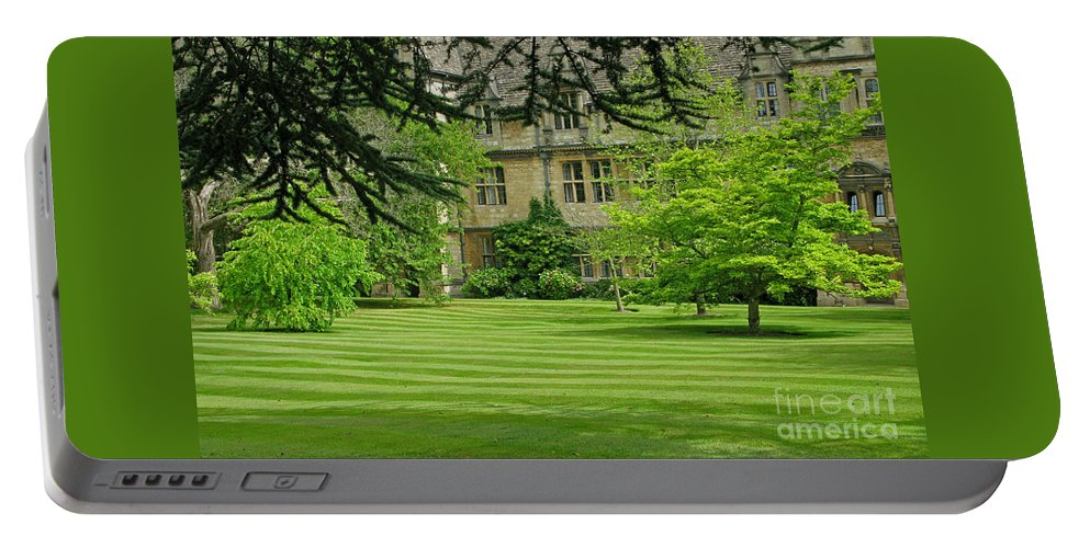 England Portable Battery Charger featuring the photograph Verdant England by Ann Horn