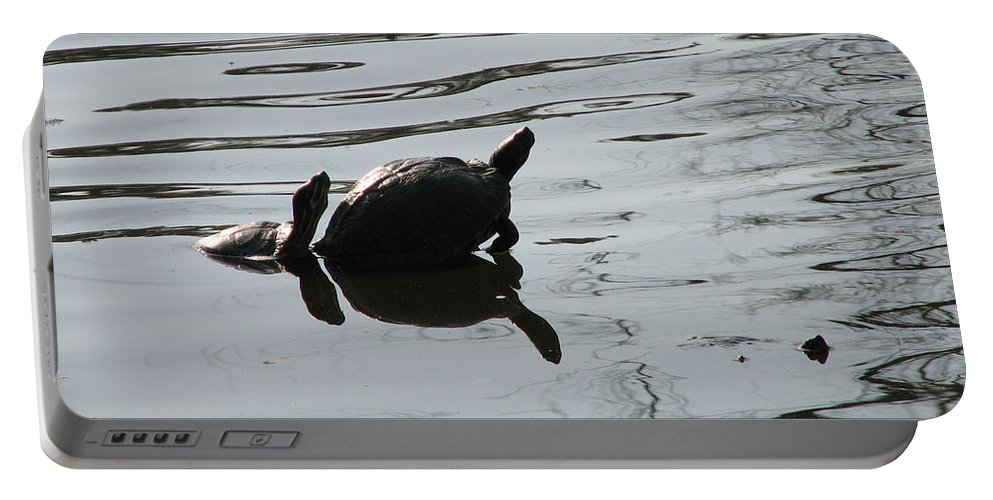 Turtle Portable Battery Charger featuring the photograph Vereen Turtles by Kelly Mezzapelle