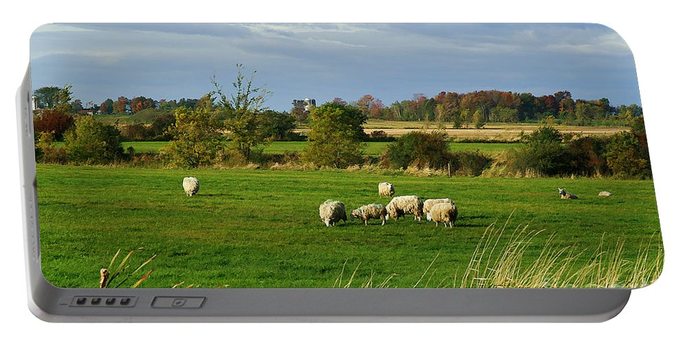 Rural Portable Battery Charger featuring the photograph Vermont Country Life by Deborah Benoit