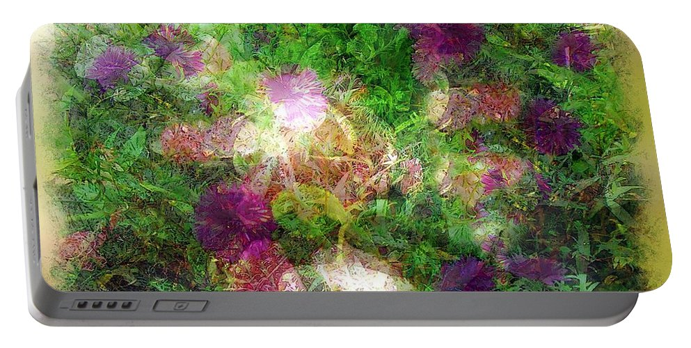 Semi-abstract Portable Battery Charger featuring the painting Vernal Equinox by RC DeWinter