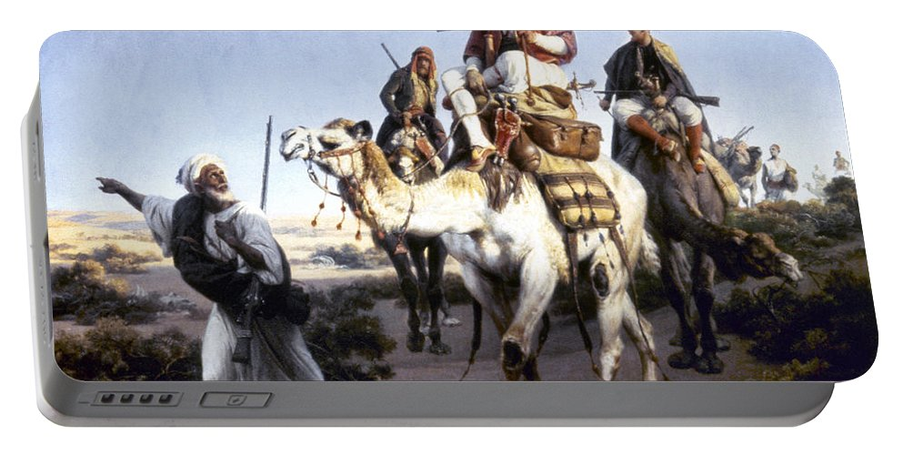 1843 Portable Battery Charger featuring the photograph Vernet: Arabs, 1843 by Granger