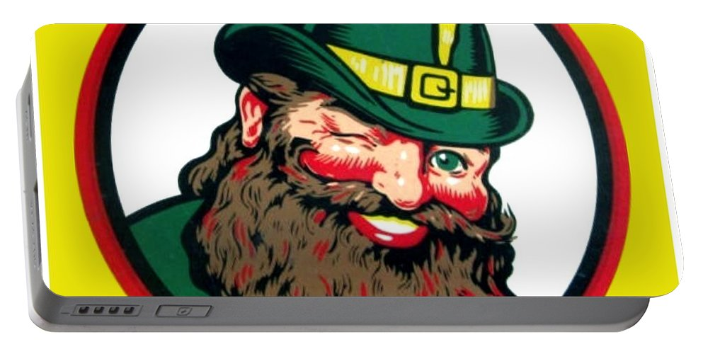 Vernors Portable Battery Charger featuring the digital art Vernors Ginger Ale - The Vernors Gnome by John Madison
