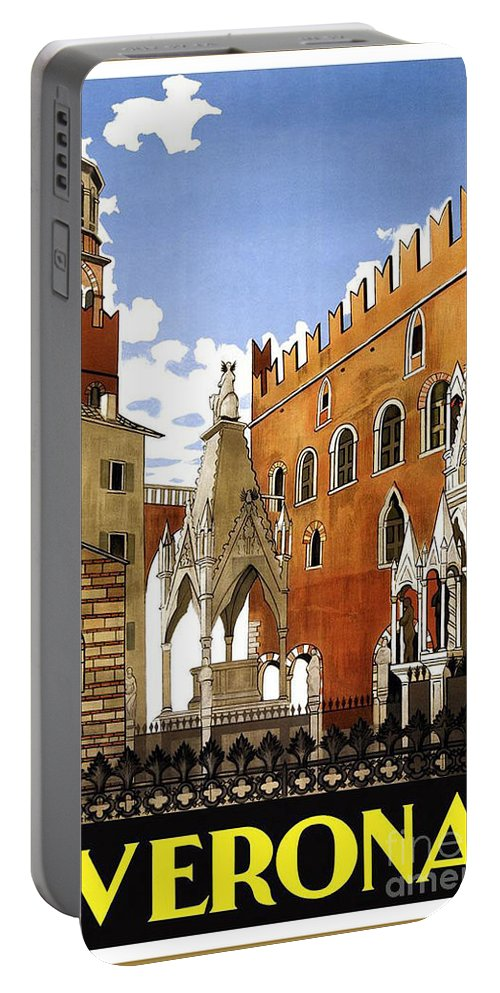 Verona Italy Portable Battery Charger featuring the painting Verona Italy by Pd