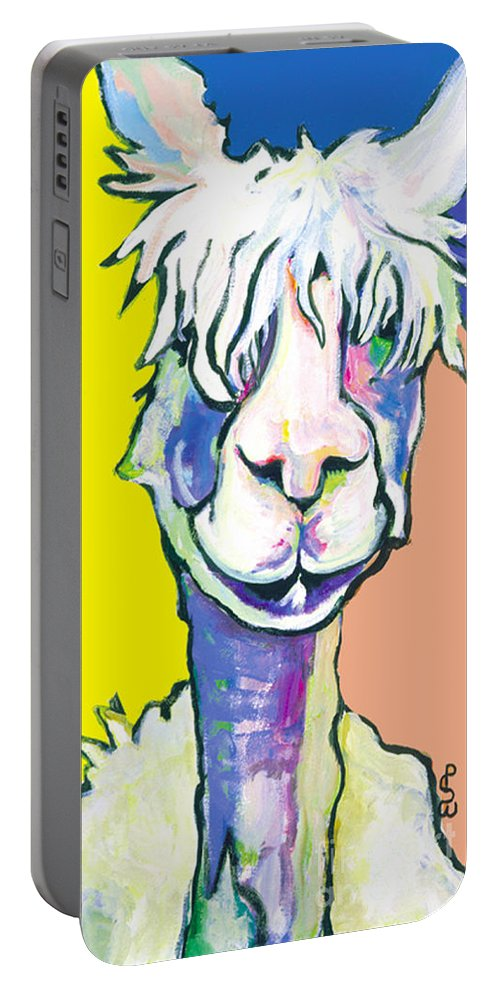 Mountain Animal Portable Battery Charger featuring the painting Veronica by Pat Saunders-White