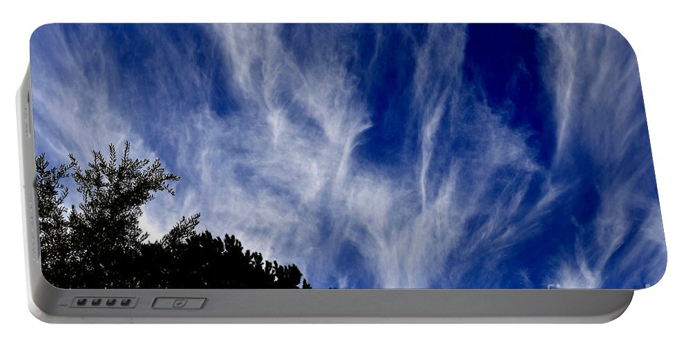 Clay Portable Battery Charger featuring the photograph Vertical Clouds by Clayton Bruster