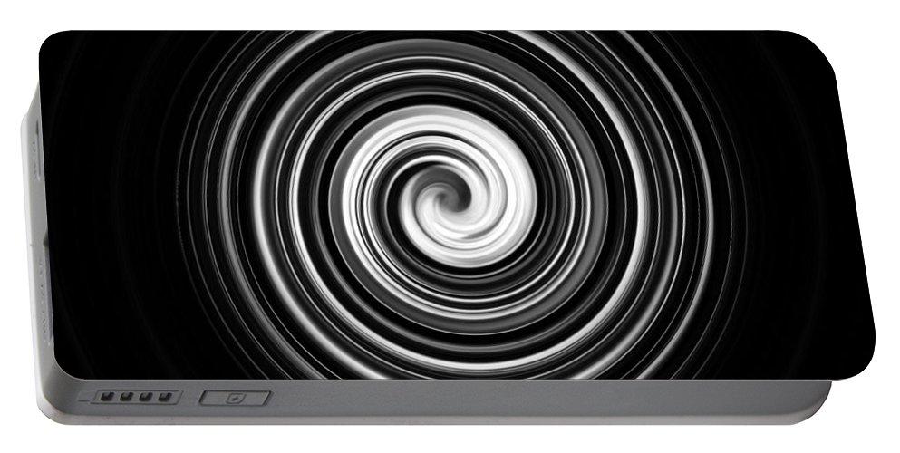 Black And White Portable Battery Charger featuring the photograph Vertigo by Scott Wyatt