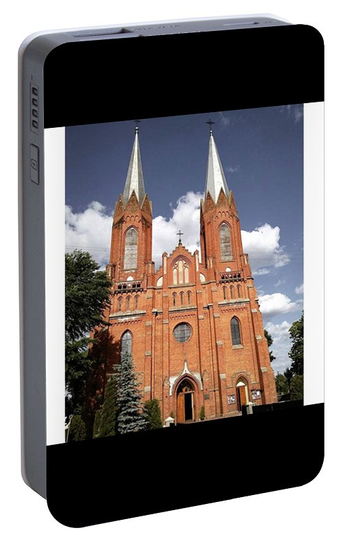 Antique Portable Battery Charger featuring the photograph Very Old Church In Odrzywol, Poland by Arletta Cwalina