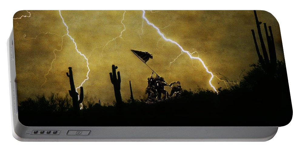 Veterans Portable Battery Charger featuring the photograph Desert Storm by James BO Insogna