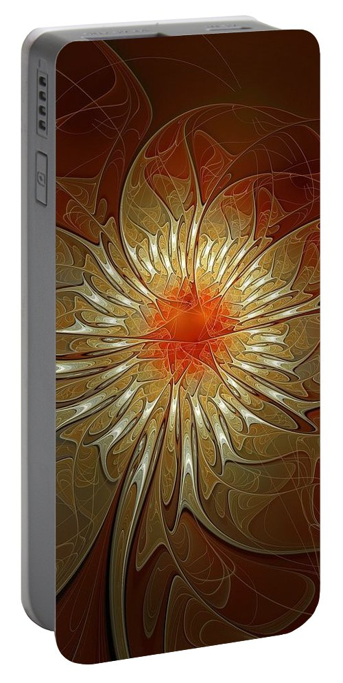 Digital Art Portable Battery Charger featuring the digital art Vibrance by Amanda Moore
