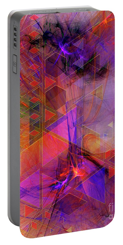 Vibrant Echoes Portable Battery Charger featuring the digital art Vibrant Echoes by John Beck