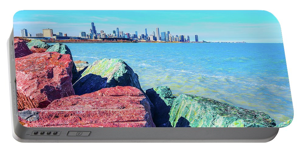 Summer Portable Battery Charger featuring the photograph Vibrant Summer Vibes by Eric Formato