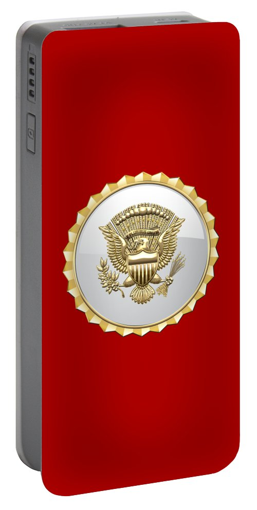 'military Insignia & Heraldry 3d' Collection By Serge Averbukh Portable Battery Charger featuring the digital art Vice Presidential Service Badge by Serge Averbukh
