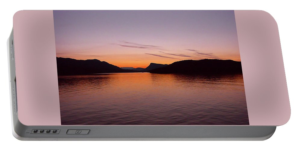 Pat Turner Portable Battery Charger featuring the photograph Victoria Sun Set by Pat Turner