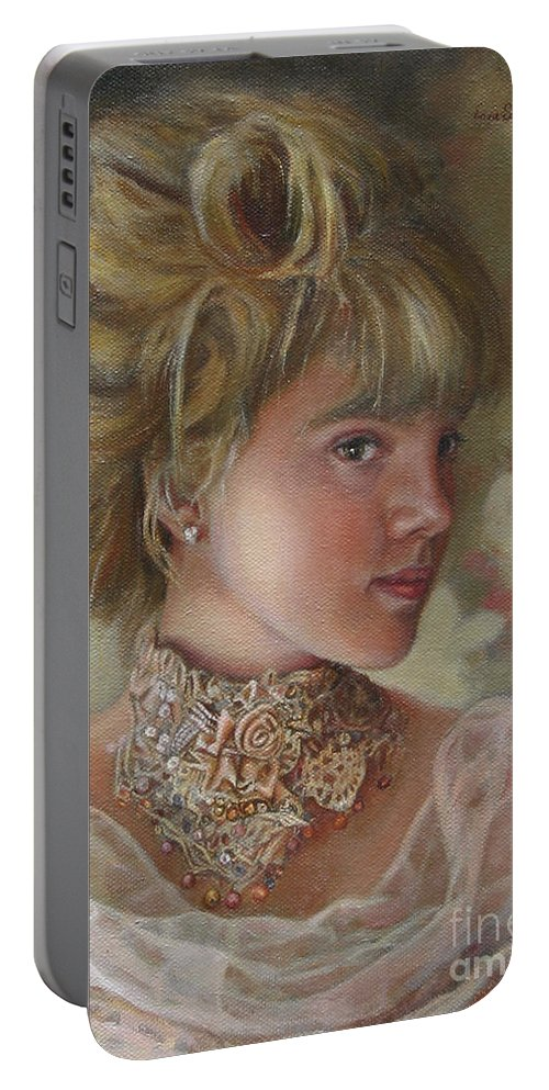 Figurative Art Portable Battery Charger featuring the painting Victorian Beauty by Portraits By NC