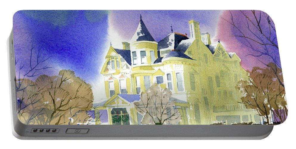Victorian Portable Battery Charger featuring the painting Victorian Holiday by Lee Klingenberg