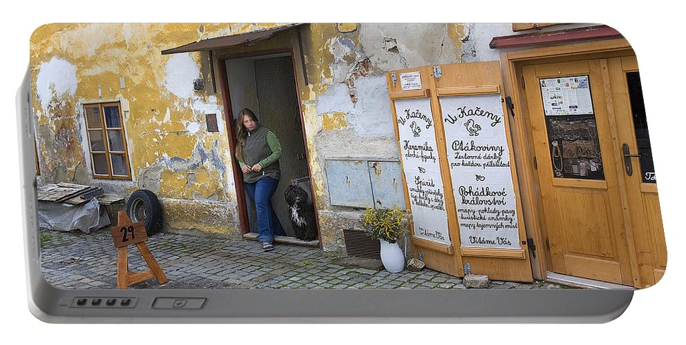 Vienna Portable Battery Charger featuring the photograph Vienna Girl And Dog by Madeline Ellis