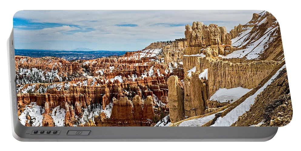 Canyon Portable Battery Charger featuring the photograph View Along The Ridge by Christopher Holmes