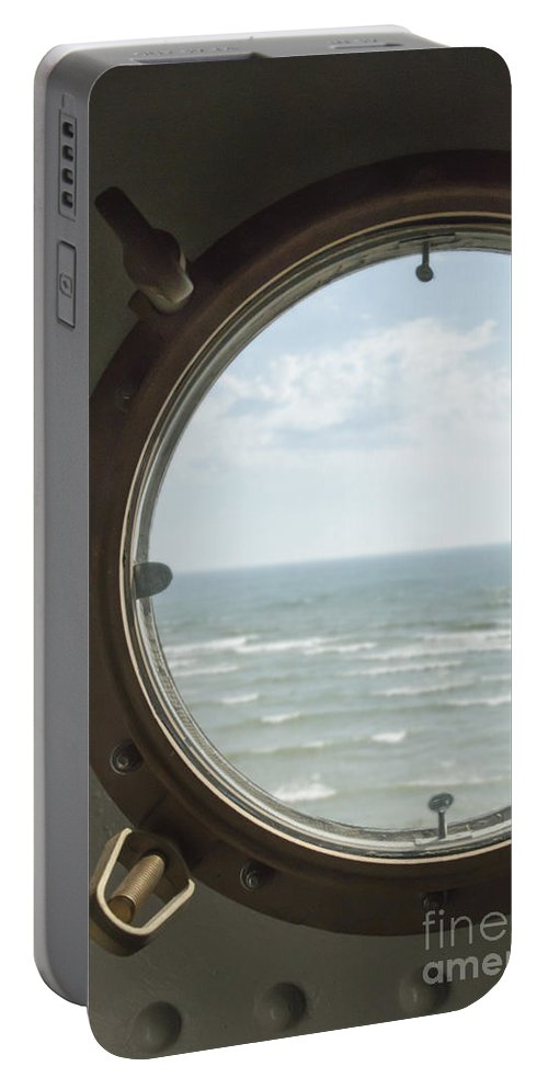 Metallic Portable Battery Charger featuring the photograph View At Sea II by Margie Hurwich