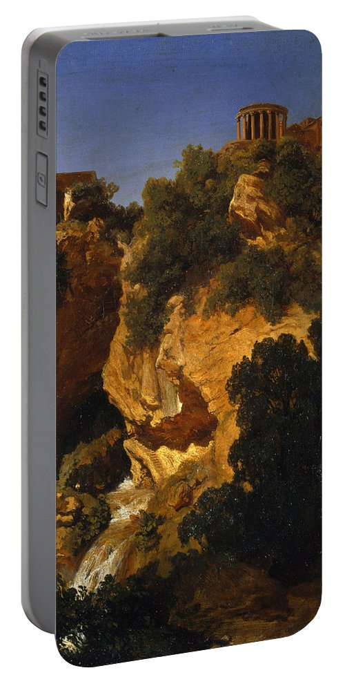 Pierre Thuillier Portable Battery Charger featuring the painting View At Tivoli by Pierre Thuillier