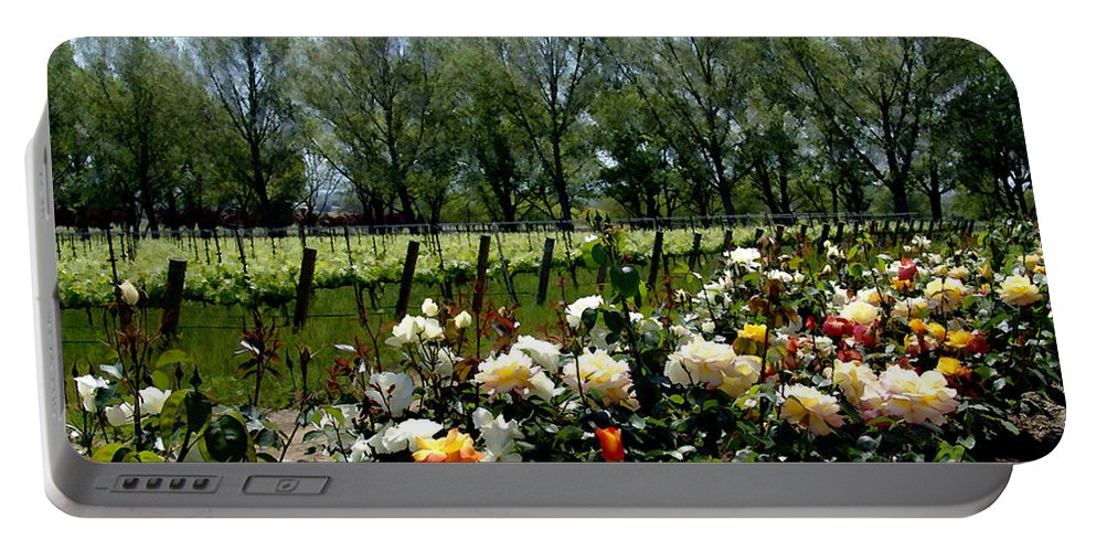 Vineyards Portable Battery Charger featuring the photograph View From Bridlewood Vineyards by Kurt Van Wagner